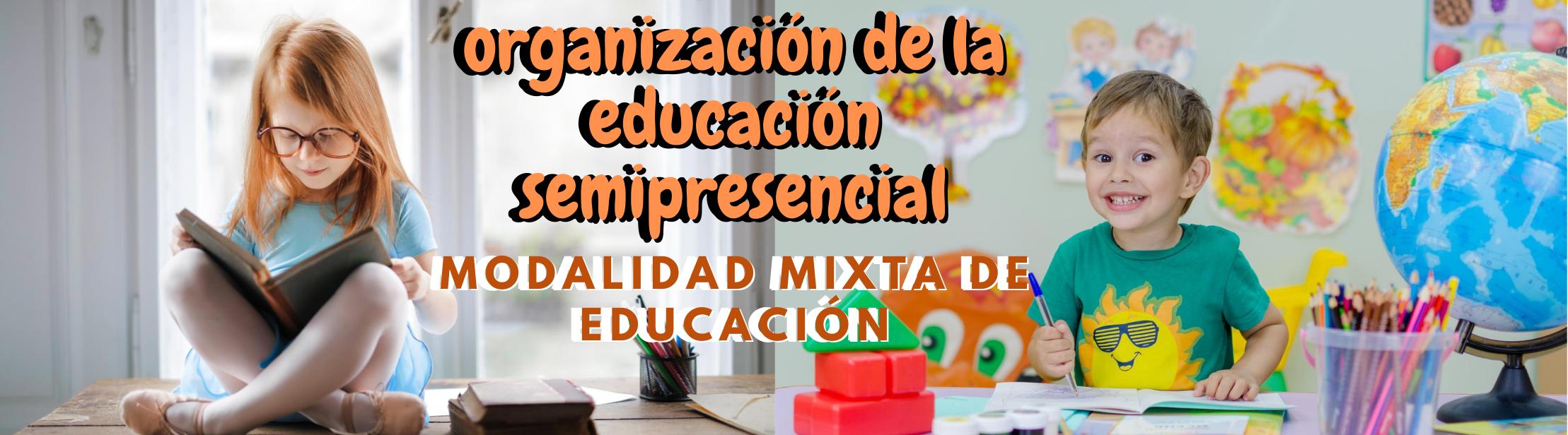 Organización de la educación semipresencial. Modalidad Mixta de Educación